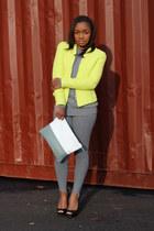 Zara jacket - banana republic sweater - vintage leggings - Love Cortnie bag