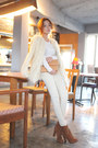Fur-stylenanda-coat-white-jean-stylenanda-pants-brown-stylenanda-heels