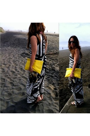 maxi dress sass & bide dress - yellow leather American Apparen bag
