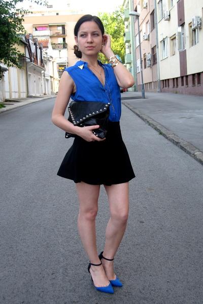 Zara Cobalt Blue Blouse 55