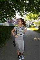 mickey crop top Terranova top - grey pencil Terranova skirt
