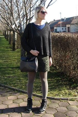 Zara sweater - REPLAY shoes - botkier bag - Tom Ford sunglasses - Zara skirt
