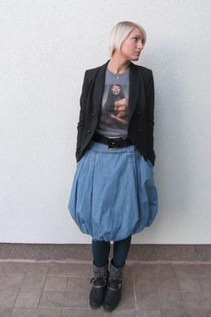 Zara blazer - D&G shirt - Levi skirt