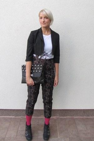 Mango blazer - Zigman t-shirt - XD Xenia Design pants - pants