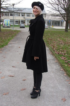 XD Xenia Design coat - karl jeans - H&M hat - REPLAY heels