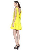 yellow Three Floor dress