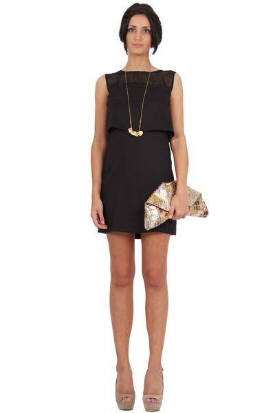 Gold emily cho bags black sed etiam dresses nude styligion heels