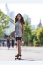 silver Sed Etiam dress - black Sed Etiam shorts - silver Sun Park NYC ring