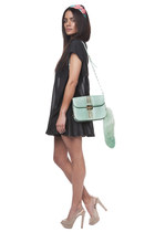 black Three Floor shorts - aquamarine Hibou bag - black Sed Etiam blouse