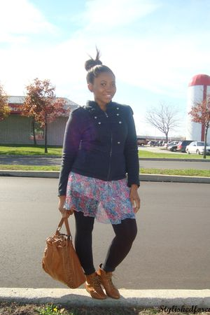 Forever 21 jacket - Forever 21 skirt - Spring shoes