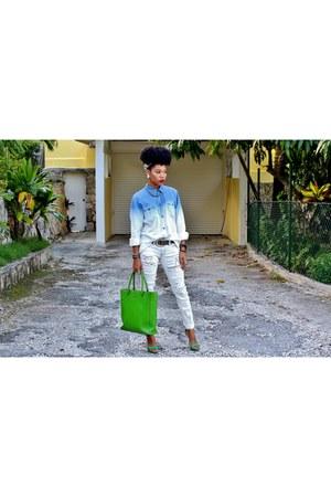 Forever 21 shirt - kate spade bag - JustFab heels