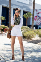 white Michael Stars shorts - light brown Sole Society bag