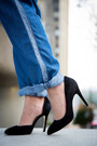 Black-theory-blazer-black-suede-chinese-laundry-heels