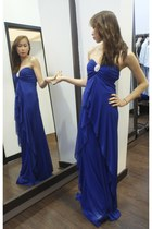 blue Ambrosia dress - silver heels heels