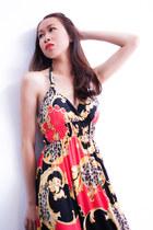red Ambrosia dress