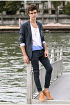 Neosens shoes - asos jeans - Dries Van Noten wallet - Selected top