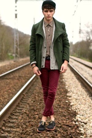 Doublju coat - asos jeans - jack & jones cape - AMERICAN VINTAGE cardigan