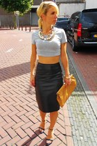 H&M necklace - H&M skirt