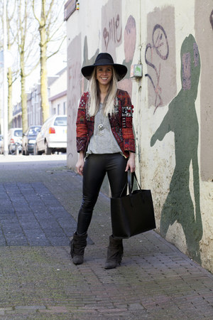 H&M blazer - Isabel Marant boots