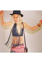 vintage bag - Andy & lucy shorts - H&M Trend top