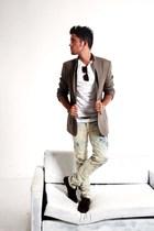 BLANCO jeans - Massimo Dutti blazer - H&M t-shirt - asos shoes - Ray Ban sunglas