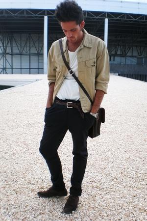 Lee blazer - H&M t-shirt - paul & joe pants
