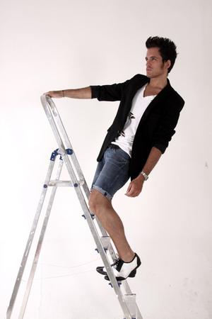 Zara blazer - H&M t-shirt - Cheap Monday shorts - vintage shoes