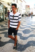 H&M t-shirt - American Apparel shorts - Cremades shoes