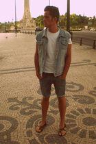 Lee jacket - H&M t-shirt - Cheap Monday shorts - Mango shoes