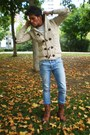 Beige-pull-bear-cardigan-blue-cheap-monday-jeans-brown-pull-bear-boots