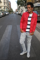 H&M jacket - Mango jeans - Fred Perry shoes - H&M t-shirt