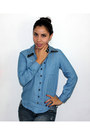 Blue-denim-paris-blue-pants-blue-denim-unknown-brand-blouse