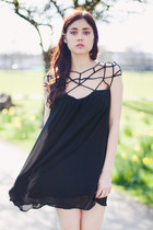 Black Caged Dress