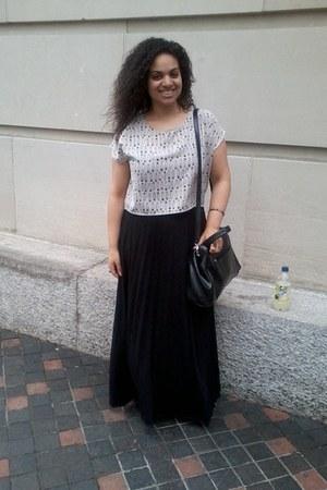 Marshalls skirt - nicole miller bag - H&M blouse