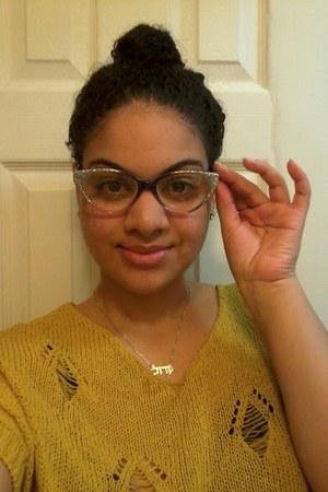 cat eye plastic modcloth glasses