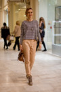 Black-stradivarius-sweater-nude-zara-pants-charcoal-gray-topshop-sneakers