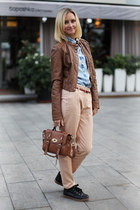 Zara jacket - Zara shirt - Mulberry bag - Stradivarius sneakers - Zara pants