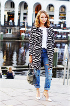 zebra PERSUNMALL coat - distressed Cheap Monday jeans - suede Bree bag