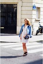 leather Diane Von Furstenberg purse - Marc by Marc Jacobs dress