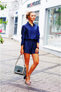 Charcoal-gray-stefanel-purse-navy-jeans-weekday-shorts