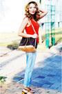 Light-blue-true-religion-jeans-louis-vuitton-bag-orange-closed-top