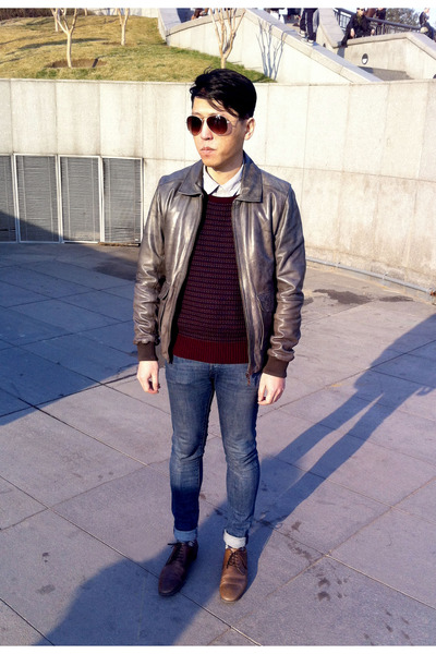 skinny jeans H&M jeans - Zara shoes - leather jacket River Island jacket