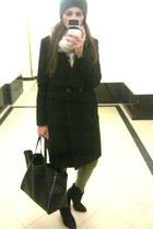 cowboy suede Zara boots - black H&M Trend coat