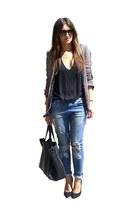 Zara blazer - NewYorker jeans - zipper detail Celina bag