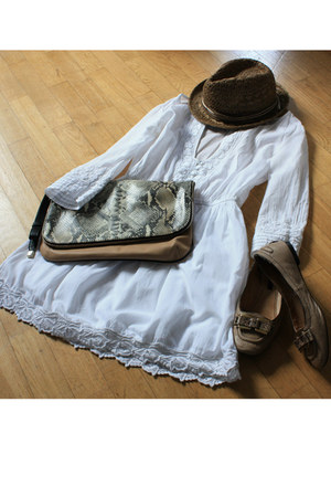 Zara dress - Zara hat - Zara bag - Zara flats