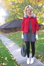 BB Dakota jacket - modcloth dress - vintage gloves - 8020 boots