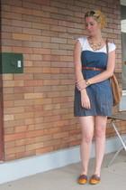 ModClothcom dress - vintage belt - Helena de Natalio purse - Jeffrey Campbell sh