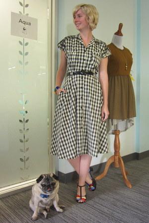 bettie page dress - miss l fire heels