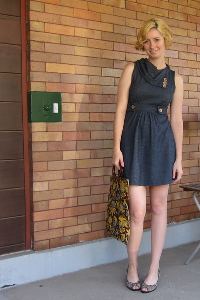 ModClothcom dress - vintage purse - Jeffrey Campbell shoes