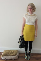 Jeffrey Campbell boots - vintage bag - ModClothcom skirt - ModClothcom top